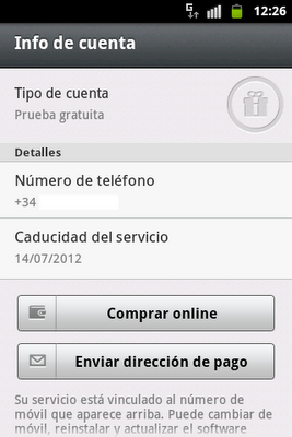 cambiar numero movil msn: